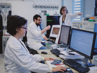 Scientists at the Proteomics Unit