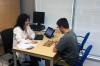 Neuropsychiatrist Aida Cuenca and TESDAD participant David Ubiñana